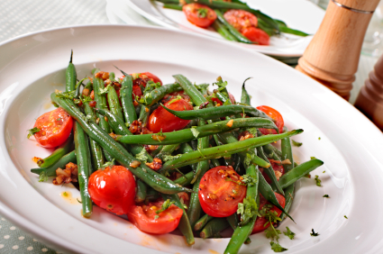 Cool Green Bean & Tomato Salad