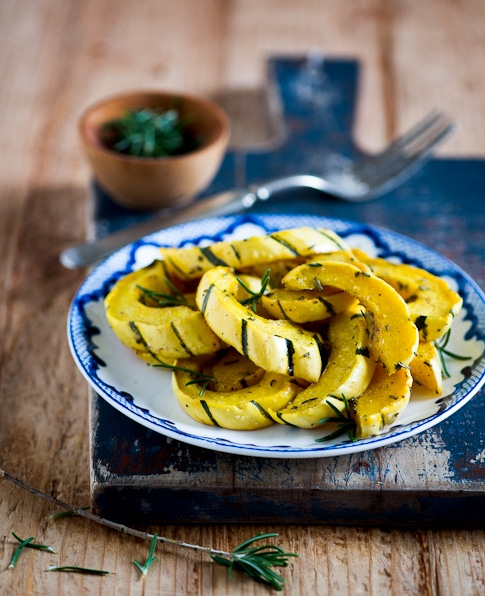 Roasted Delicata Squash with Rosemary