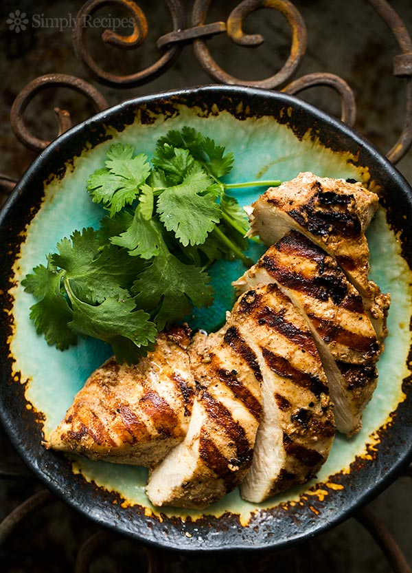 Grilled Chicken in a Moroccan Marinade